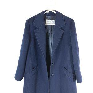 Vintage Pendleton 100% Wool Blue Overcoat Men M